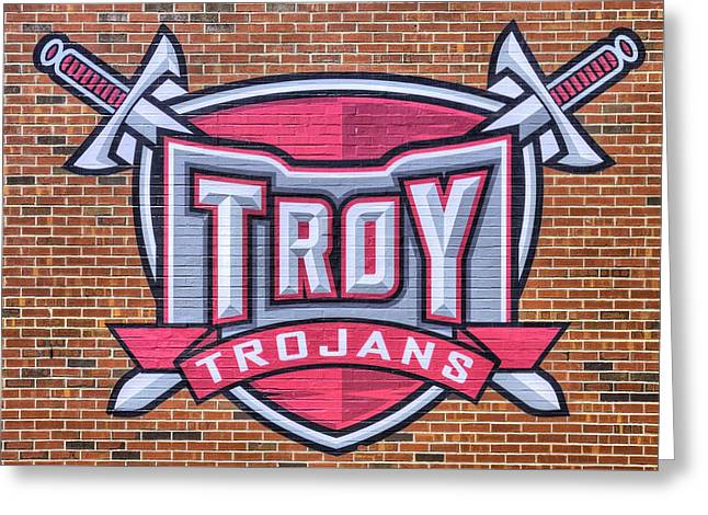 Troy University Trojans Greeting Card by JC Findley