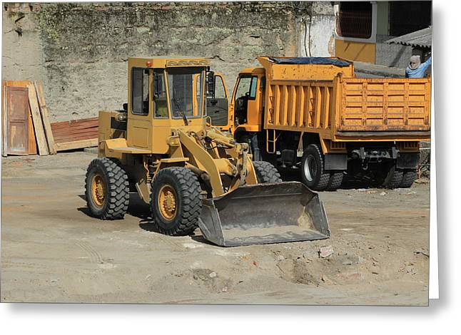 Truck And Loader Greeting Card by Robert Hamm