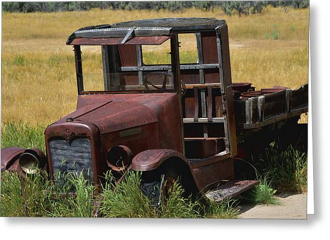 Truck Long Gone Greeting Card
