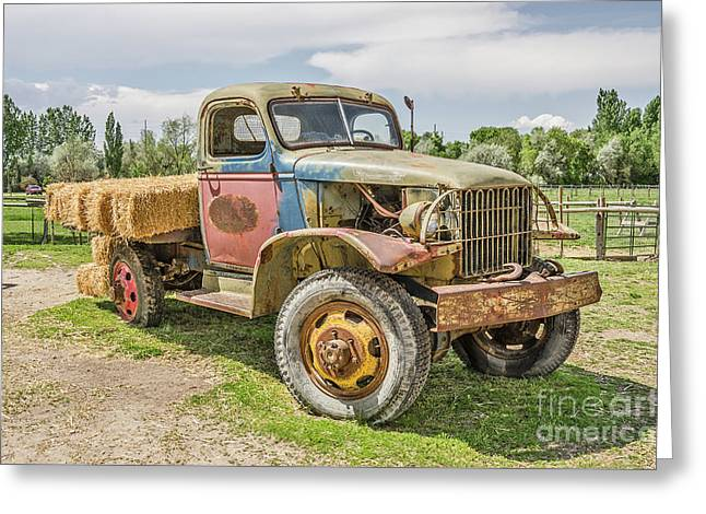 Greeting Card featuring the photograph Truck Of Many Colors by Sue Smith