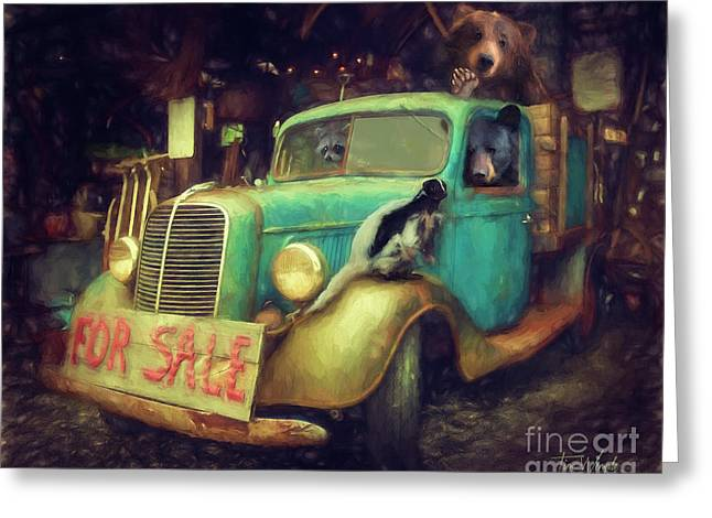 Truck Sale Greeting Card by Tim Wemple