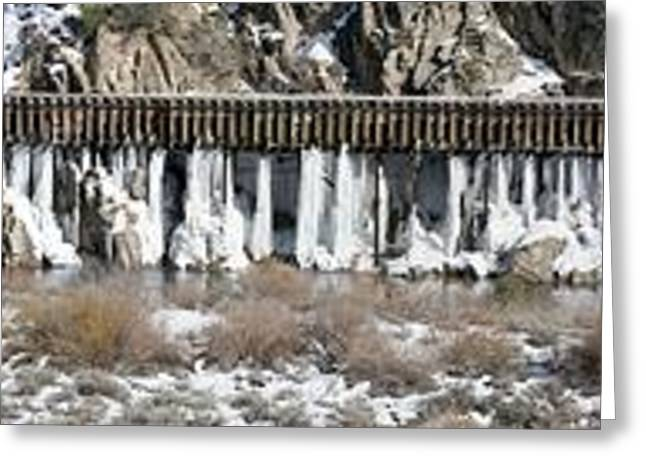 Truckee River Flumes Greeting Card by Edward Hass