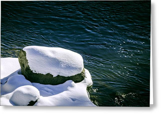 Greeting Card featuring the photograph Truckee River Snow by William Havle