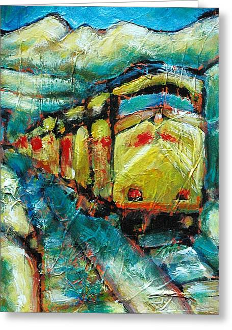 Truckee Train 2 Greeting Card by Sara Zimmerman