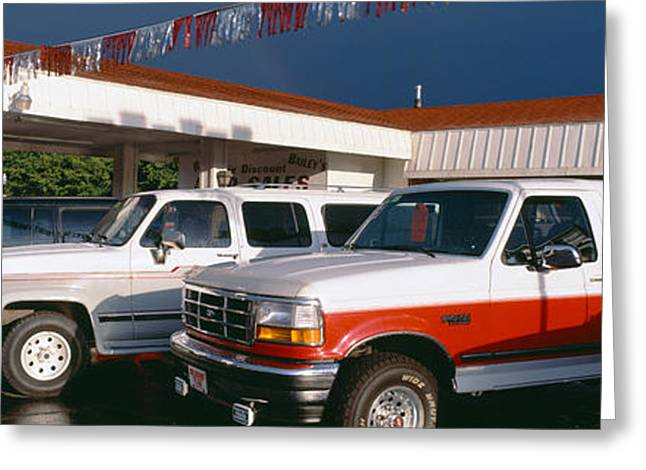 Trucks In Used Car Lot, St. George, Utah Greeting Card