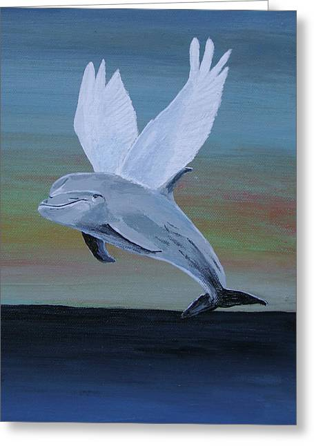 Greeting Card featuring the painting True Angel 3 by Eric Kempson