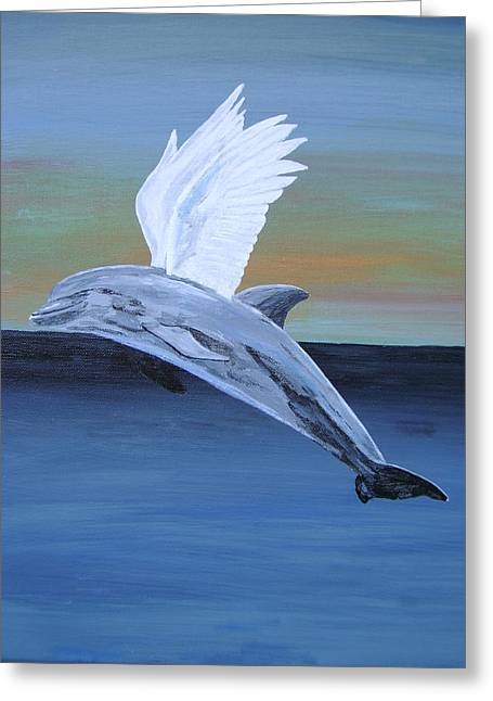 Greeting Card featuring the painting True Angel 4 by Eric Kempson