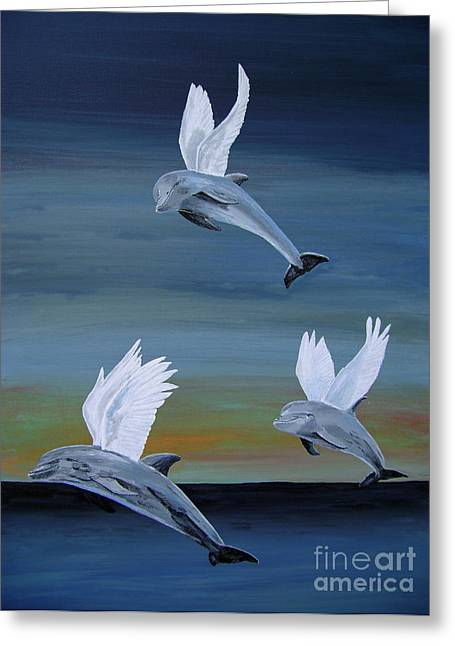 Greeting Card featuring the painting True Angels by Eric Kempson
