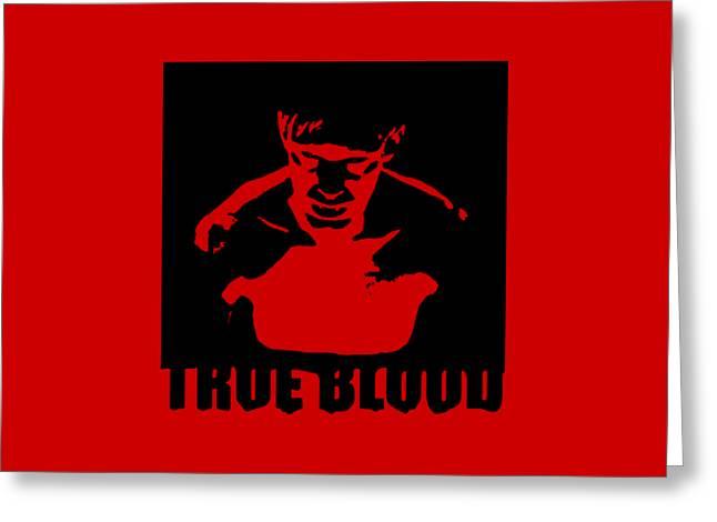 True Blood  Eric Northman Vampire Stencil Greeting Card