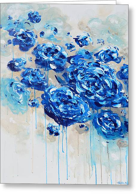 True Blue Greeting Card by Christine Krainock