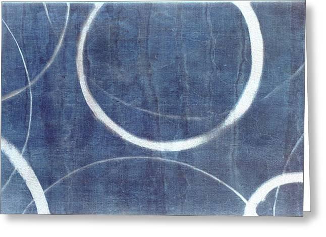 True Blue Ensos Greeting Card by Julie Niemela