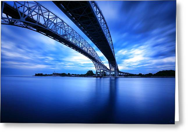 True Blue View Greeting Card by Gordon Dean II