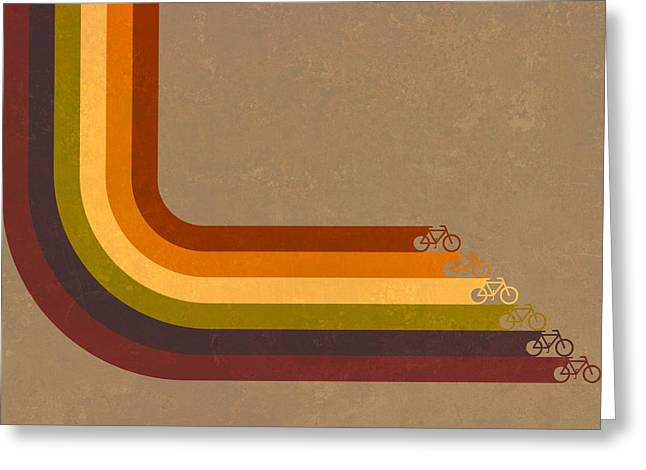 True Colors Cyclery Bikes For All Types Greeting Card by Victoria Collins