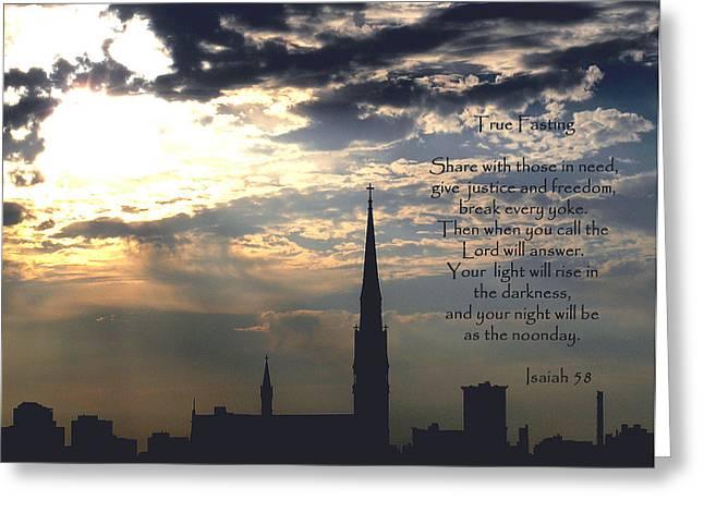 True Fasting Greeting Card