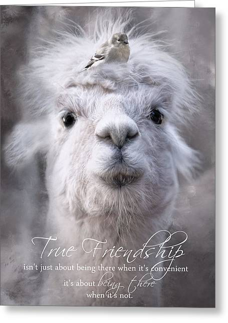 Greeting Card featuring the photograph True Friendship by Robin-Lee Vieira