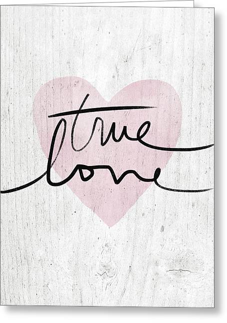 True Love Rustic- Art By Linda Woods Greeting Card