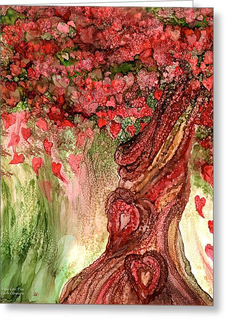 True Love Tree Greeting Card by Carol Cavalaris