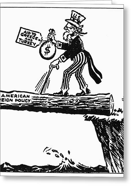 Truman Doctrine Cartoon Greeting Card by Granger