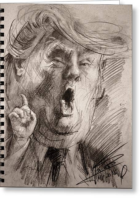 Trump A Dengerous A-hole Greeting Card by Ylli Haruni