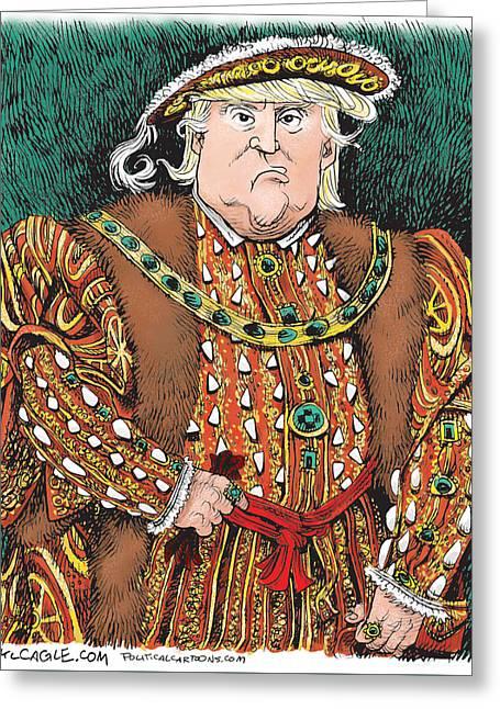 Trump As King Henry Viii Greeting Card