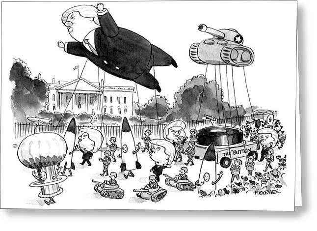 Trump Parade Greeting Card