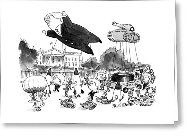Trump Parade Greeting Card