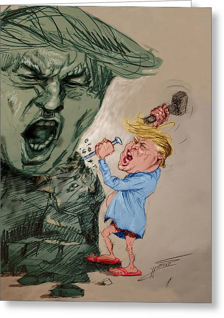Trump Shaping The Future  Greeting Card by Ylli Haruni