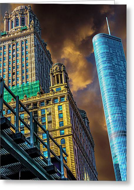 Trump Tower And The Jewelers Building Dsc4446 Greeting Card by Raymond Kunst