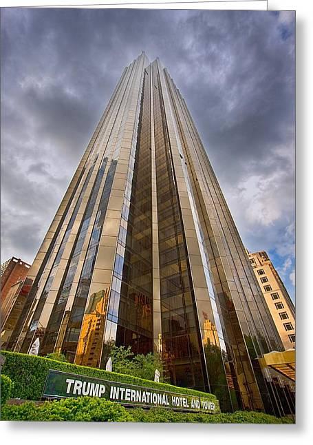 Trump Tower At Columbus Circle Nyc Greeting Card