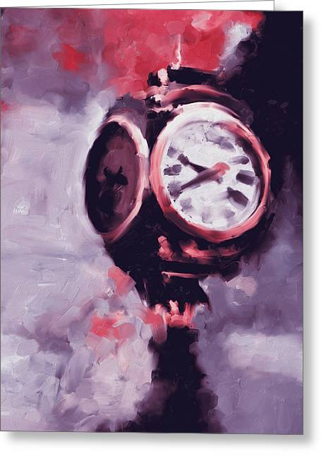 Trump Tower Clock Ny 563 2 Greeting Card by Mawra Tahreem