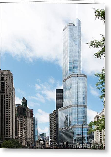 Trump Tower In Chicago Greeting Card
