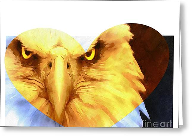 Trumped Gold On White Greeting Card by Catherine Lott