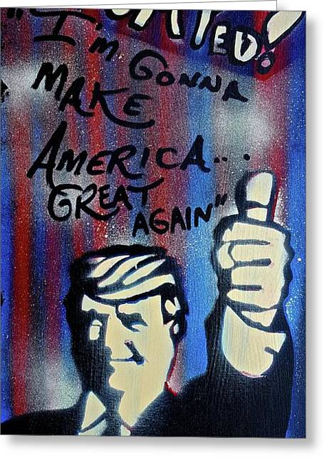 Trumped Up America Greeting Card by Tony B Conscious
