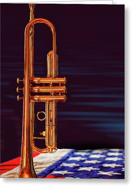 Trumpet-close Up Greeting Card
