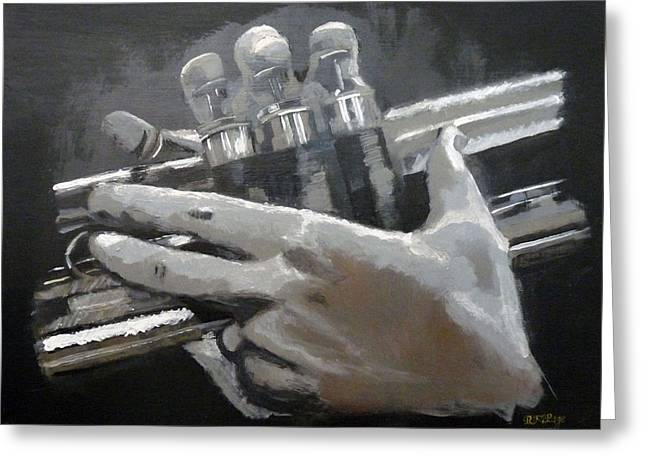 Trumpet Hands Greeting Card