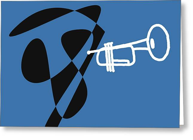 Trumpet In Blue Greeting Card