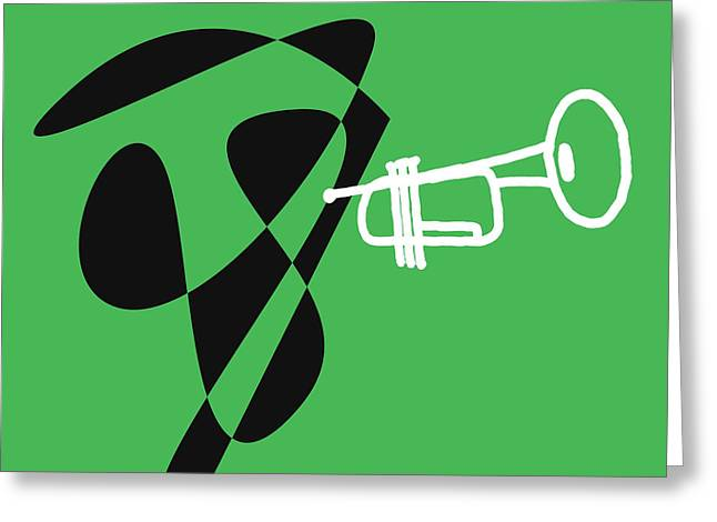 Trumpet In Green Greeting Card