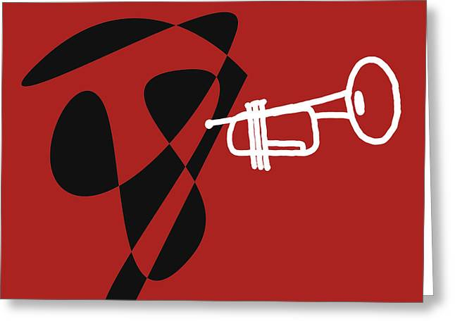 Trumpet In Orange Red Greeting Card