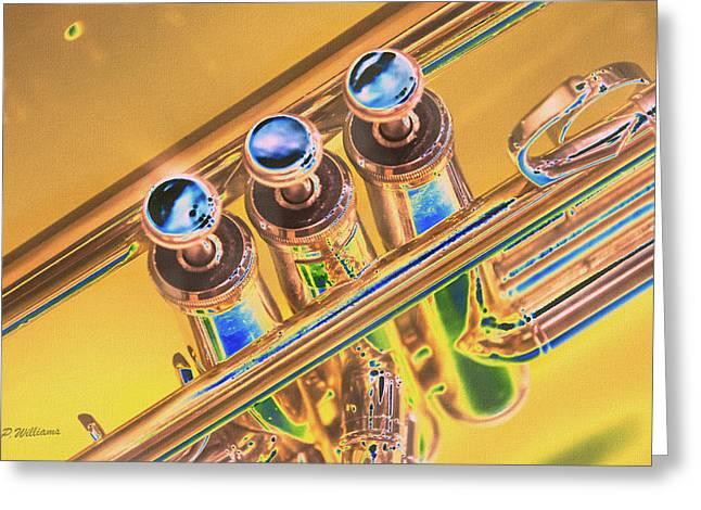 Trumpet Keys Greeting Card