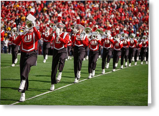Trumpet Line Greeting Card by Todd Klassy