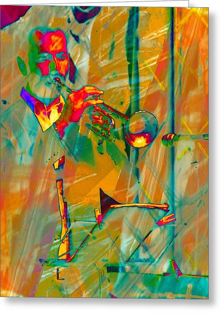 Trumpet Player Greeting Card by Dorothy Berry-Lound