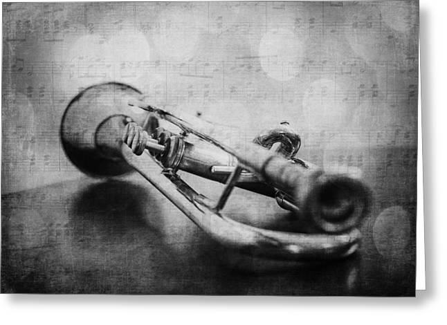 Trumpet Solo Greeting Card by Emily Kay