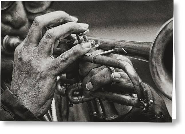 Trumpet Solo Greeting Card by Pedro L Gili