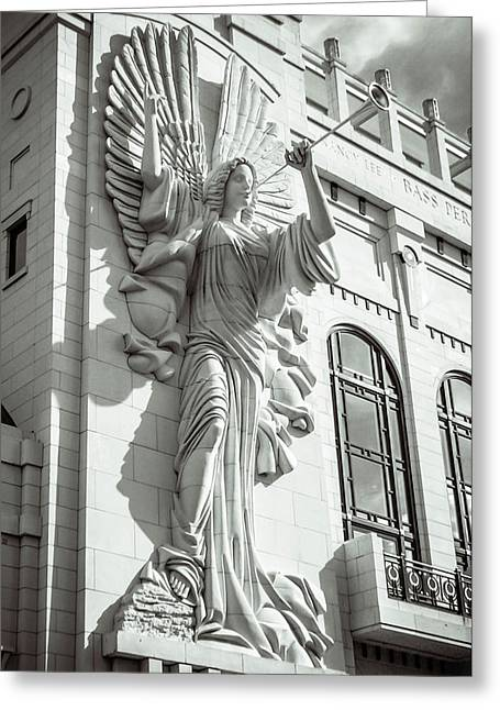 Greeting Card featuring the photograph Trumpeting Angel by Guy Whiteley