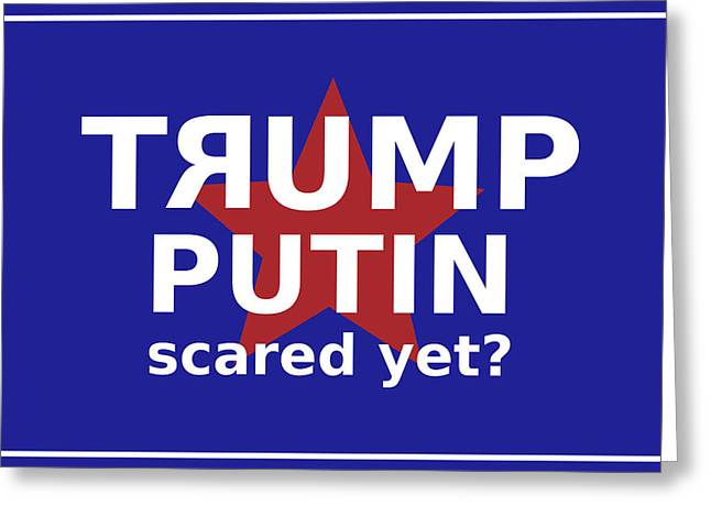 Trumputin Greeting Card by Richard Reeve