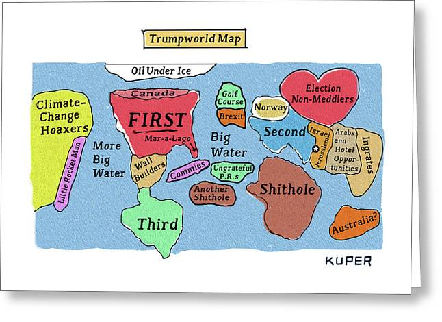 Trumpworld Map Greeting Card