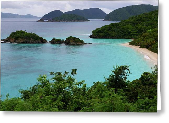 Greeting Card featuring the photograph Trunk Bay At U.s. Virgin Islands National Park by Jetson Nguyen