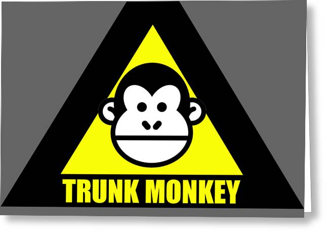 Trunk Monkey Greeting Card
