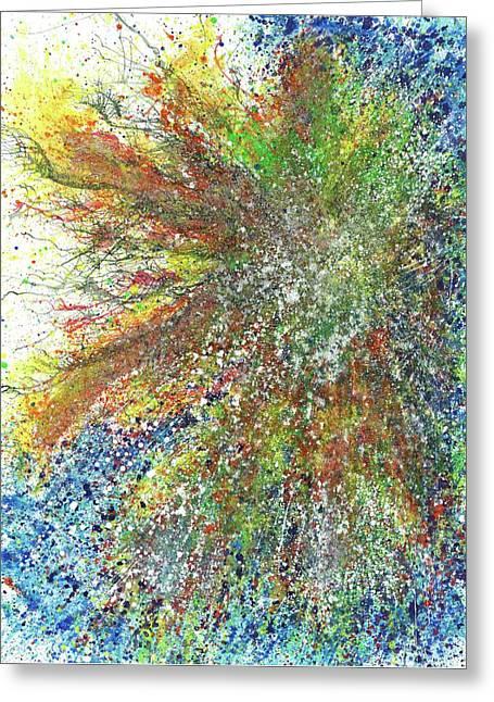 Trust The Process Of Life #476 Greeting Card by Rainbow Artist Orlando L aka Kevin Orlando Lau