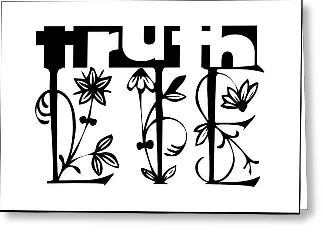 Truth - Lie Concept Greeting Card